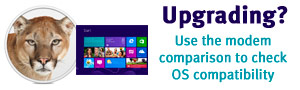 Upgrading your OS? Use the modem comparison to check OS compatibility